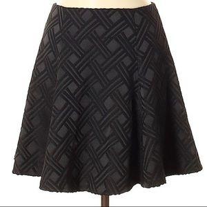 ALICE OLIVIA Skirt 8 Black Mini Skirt Flare M